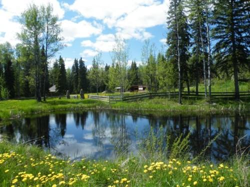 Blockhaus Cabin am See, Kanada, British Columbia,