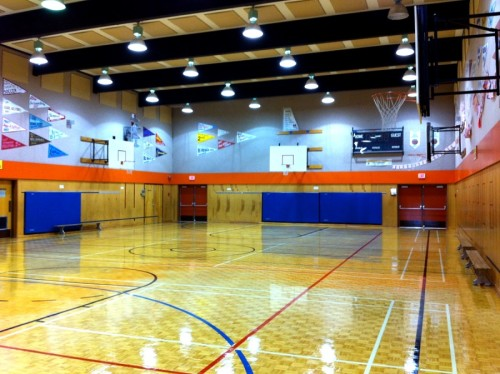 Beautiful gym in the school!