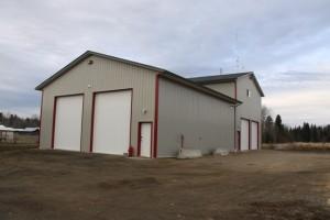 Brand new Horsefly Fire Hall