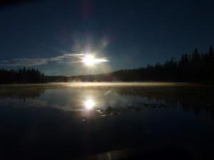 Sunrise at Moffat Lake